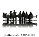 business people discussion... | Shutterstock . vector #243640183