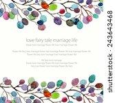 invitation. wedding or birthday ... | Shutterstock .eps vector #243643468