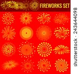 fireworks for chinese new year | Shutterstock .eps vector #243644098
