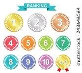 rank medal set | Shutterstock .eps vector #243646564