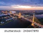 sunset scene at bhumibol bridge ...   Shutterstock . vector #243647890