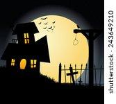abstract halloween background... | Shutterstock .eps vector #243649210