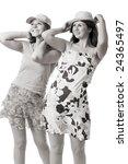 two smiling women in summer...   Shutterstock . vector #24365497