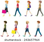 illustration of many people... | Shutterstock .eps vector #243657964