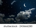 backgrounds night sky with... | Shutterstock . vector #243666280