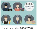 profession people  | Shutterstock .eps vector #243667084