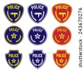 police badges  blue and red | Shutterstock .eps vector #243670276