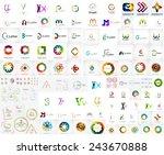logo mega collection  abstract... | Shutterstock .eps vector #243670888