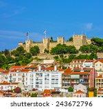lisbon fortress of saint george ... | Shutterstock . vector #243672796