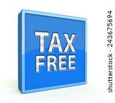 tax free square icon on white... | Shutterstock . vector #243675694