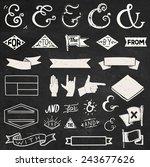 design elements set  catchwords ... | Shutterstock .eps vector #243677626