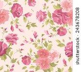 beautiful seamless floral...   Shutterstock .eps vector #243678208