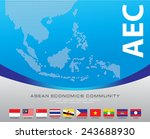 asean map dotted style... | Shutterstock .eps vector #243688930
