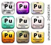Buttons Showing Plutonium And...