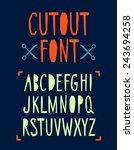 cutout vector abc letters... | Shutterstock .eps vector #243694258