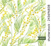 Mimosa Watercolor  Pattern ...
