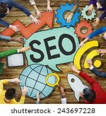 seo online search engine... | Shutterstock . vector #243697228