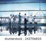 business people handshake... | Shutterstock . vector #243706810