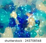 fantasy blue clouds with sky.... | Shutterstock .eps vector #243708568