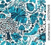 vector seamless pattern ... | Shutterstock .eps vector #243709648
