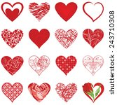 valentine's day. set of various ... | Shutterstock .eps vector #243710308