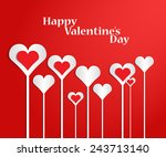 st. valentine's day. hearts on... | Shutterstock .eps vector #243713140