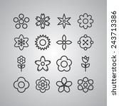 simple flower icon set | Shutterstock .eps vector #243713386