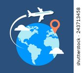 travel  destination concept.... | Shutterstock . vector #243713458