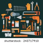 repair and construction... | Shutterstock .eps vector #243717910