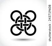 celtic symbol  logo icon design ... | Shutterstock .eps vector #243719608