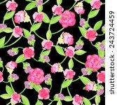seamless flower  pattern.... | Shutterstock . vector #243724459