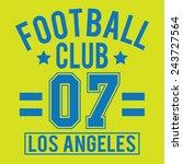 football sport typography  t... | Shutterstock .eps vector #243727564