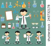 profession scientist with icon... | Shutterstock .eps vector #243732178