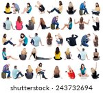collection back view of... | Shutterstock . vector #243732694