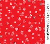 retro style seamless christmas... | Shutterstock . vector #243733540
