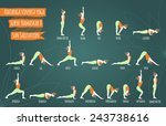 surya namaskar b.  sun... | Shutterstock .eps vector #243738616
