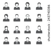 people icon set   Shutterstock .eps vector #243740386