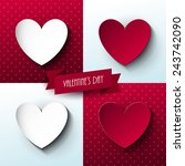 set of valentine s day cards | Shutterstock .eps vector #243742090