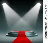 spotlights illuminate the...   Shutterstock .eps vector #243742579