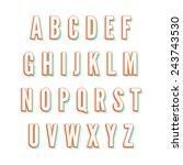 vintage vector colorful font | Shutterstock .eps vector #243743530
