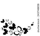 butterflies design | Shutterstock .eps vector #243748858