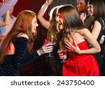 happy friends having fun... | Shutterstock . vector #243750400