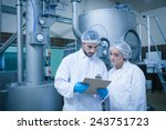 food technicians working... | Shutterstock . vector #243751723