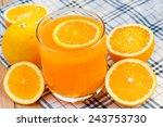 orange juice and orange drink. | Shutterstock . vector #243753730