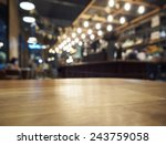 table top counter bar... | Shutterstock . vector #243759058