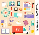 big set of vector journalism... | Shutterstock .eps vector #243759766