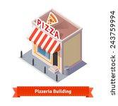 pizza restaurant and shop... | Shutterstock .eps vector #243759994