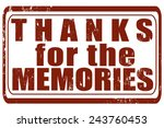 grunge stamp with text thanks... | Shutterstock .eps vector #243760453