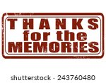 grunge stamp with text thanks... | Shutterstock .eps vector #243760480