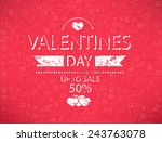 template valentines day up to... | Shutterstock .eps vector #243763078